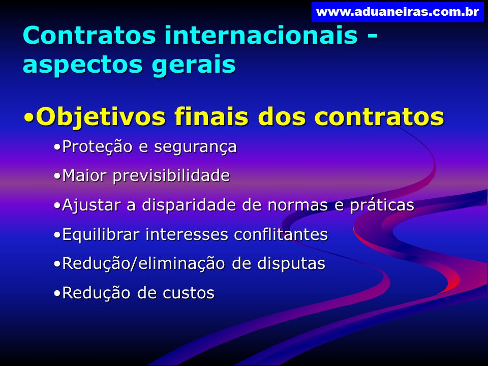 Contratos internacionais - aspectos gerais