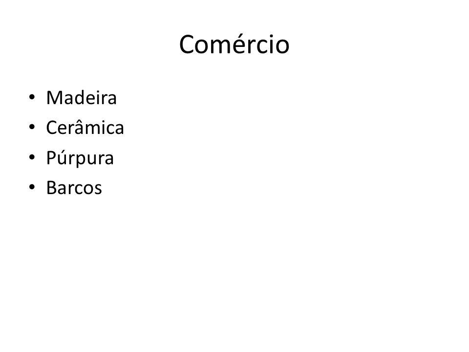 Comércio Madeira Cerâmica Púrpura Barcos