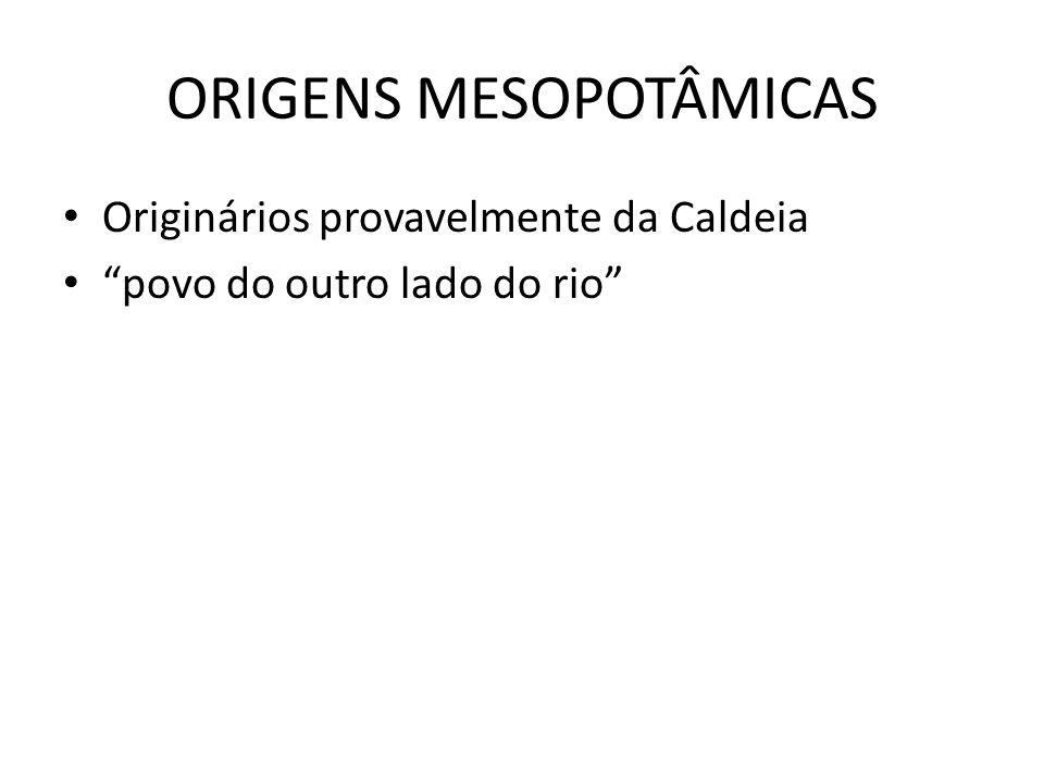 ORIGENS MESOPOTÂMICAS