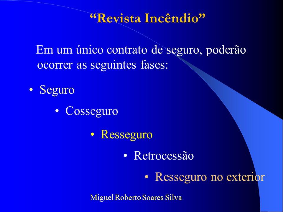 Revista Incêndio Em um único contrato de seguro, poderão ocorrer as seguintes fases: Seguro. Cosseguro.