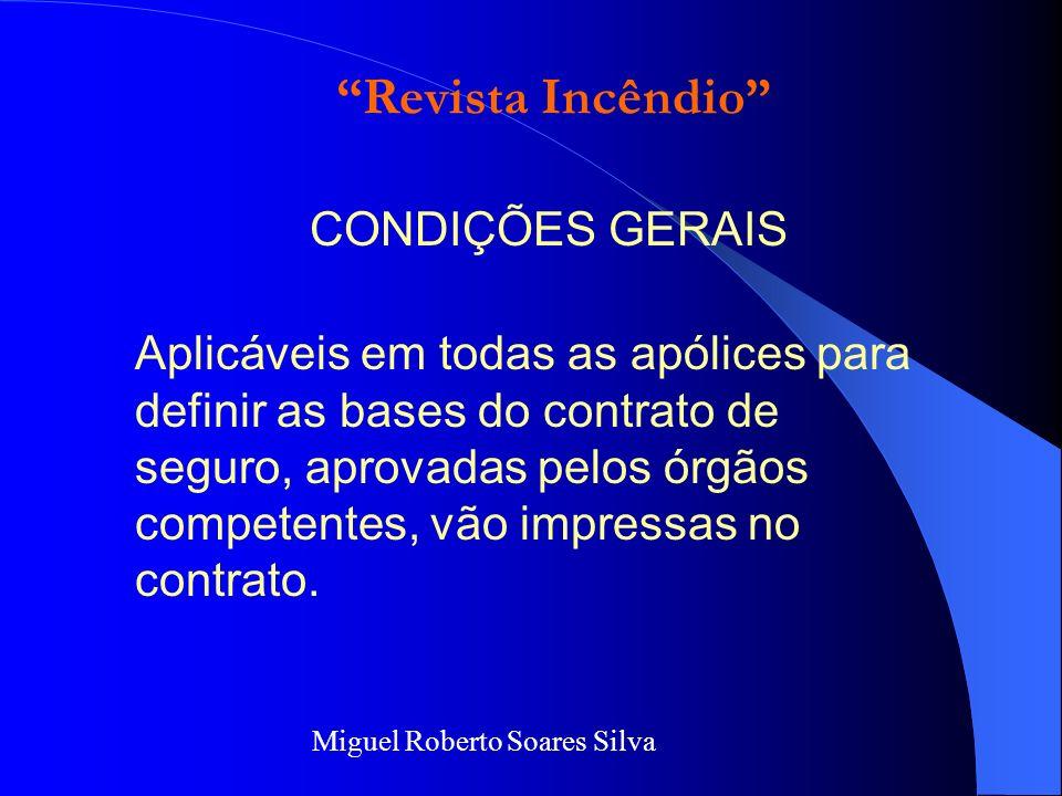 Revista Incêndio CONDIÇÕES GERAIS