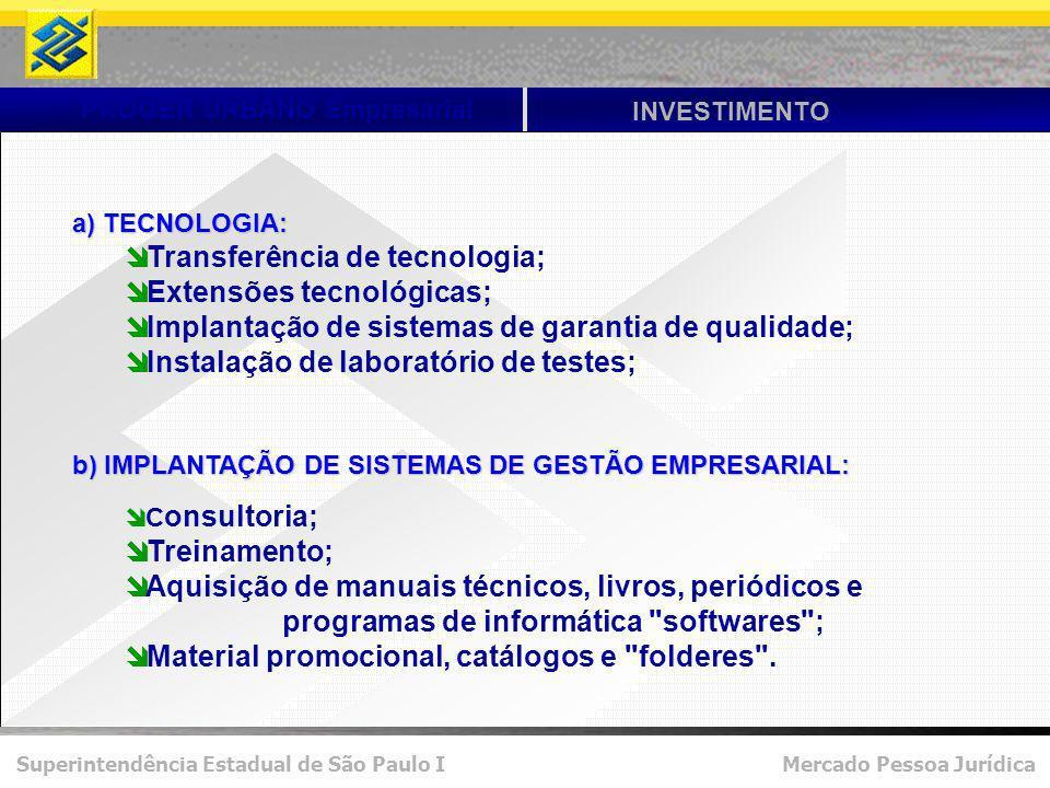 Transferência de tecnologia; Extensões tecnológicas;
