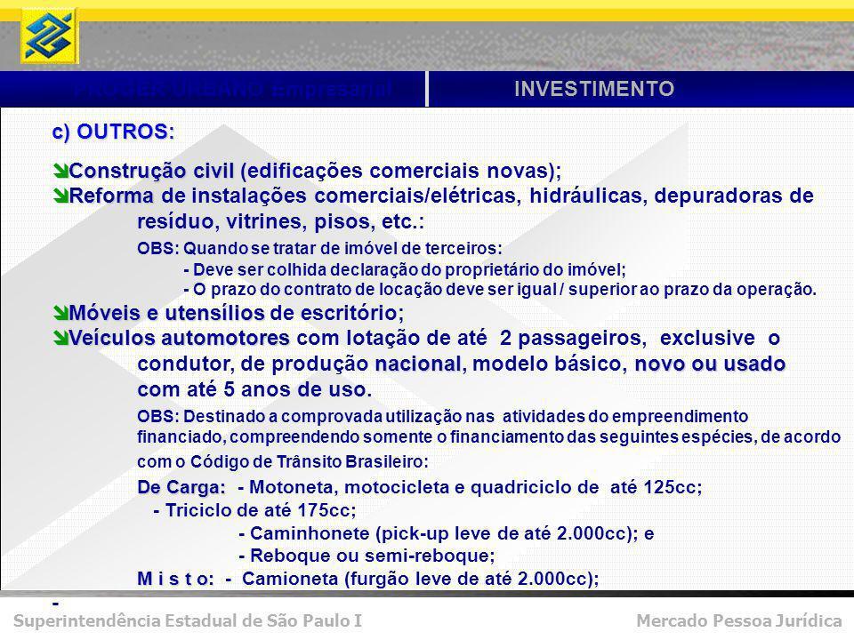 PROGER URBANO Empresarial INVESTIMENTO