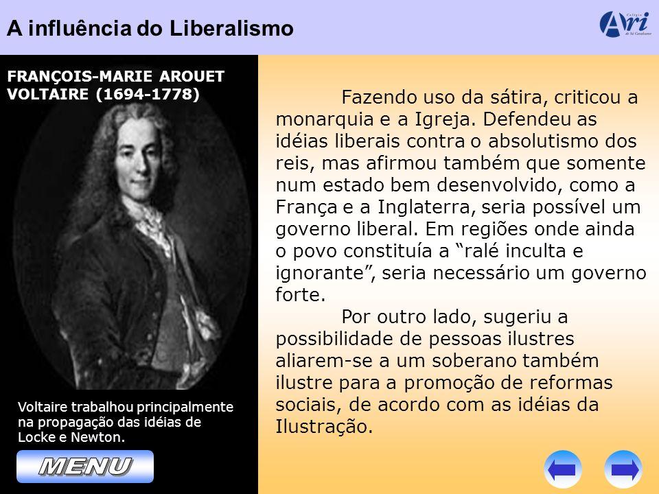 MENU A influência do Liberalismo