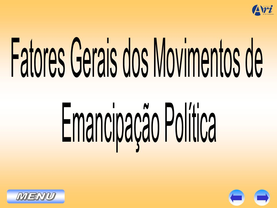 Fatores Gerais dos Movimentos de