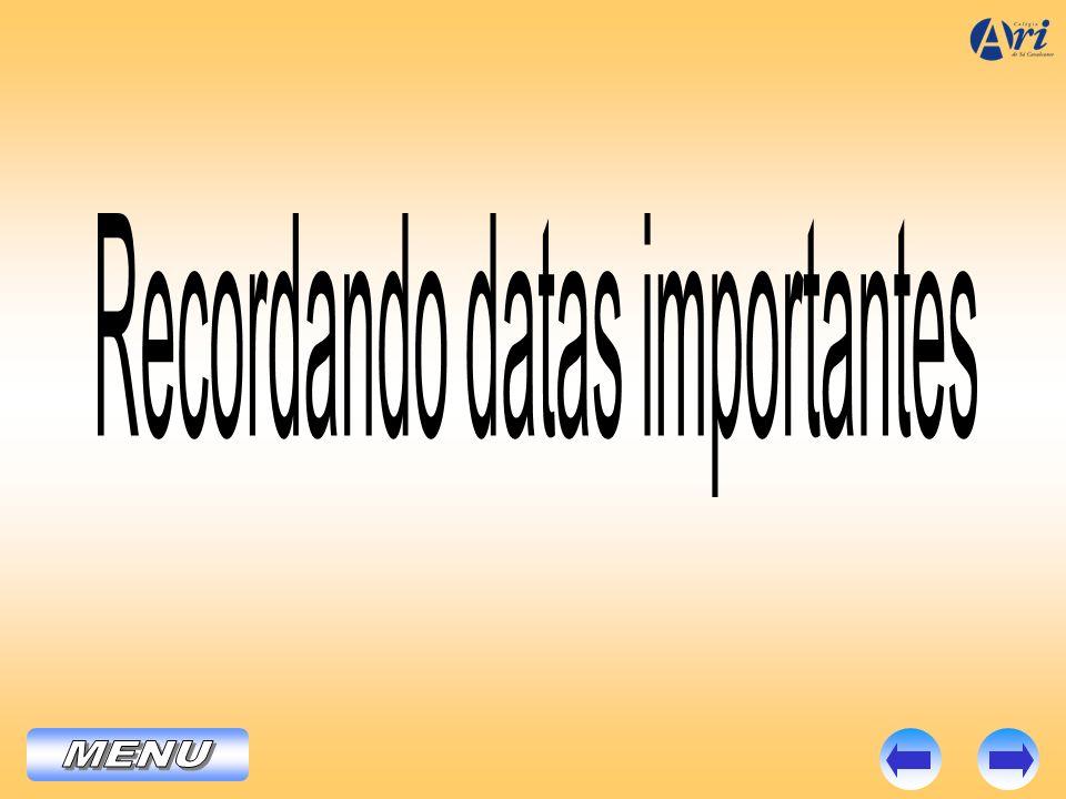 Recordando datas importantes