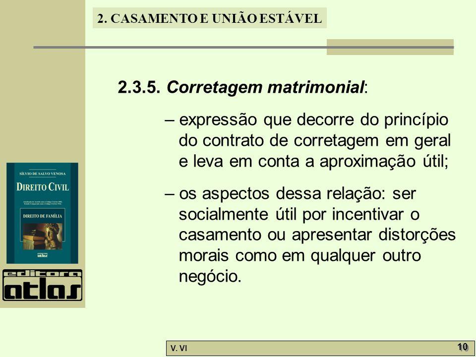 2.3.5. Corretagem matrimonial: