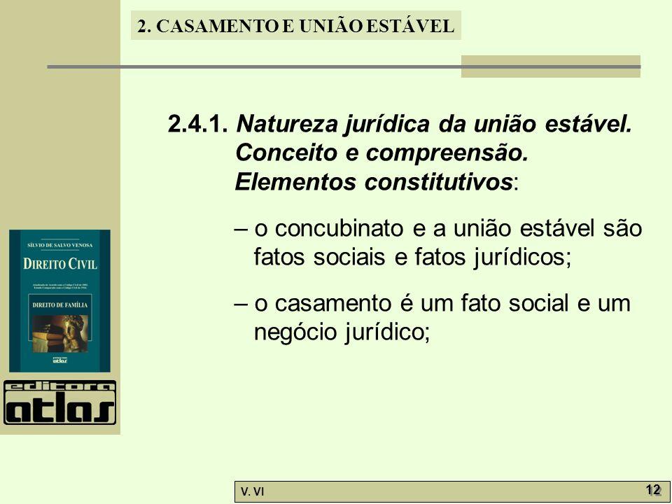 2. 4. 1. Natureza jurídica da união estável. Conceito e compreensão
