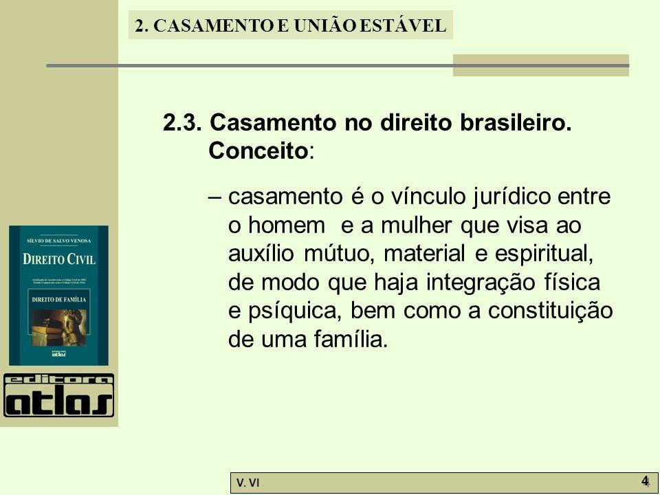 2.3. Casamento no direito brasileiro. Conceito: