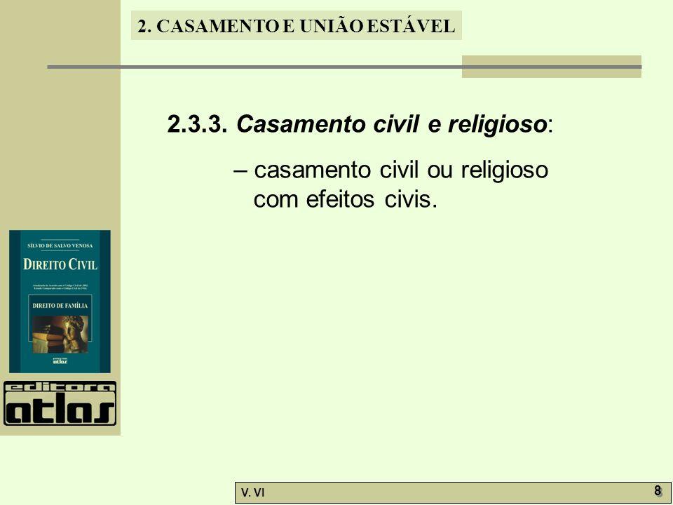 2.3.3. Casamento civil e religioso: