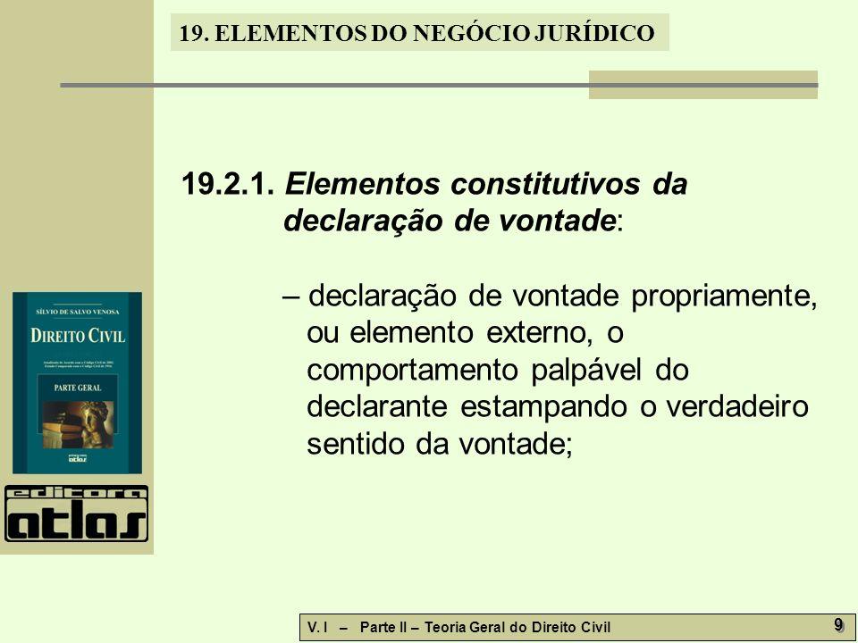 19.2.1. Elementos constitutivos da declaração de vontade: