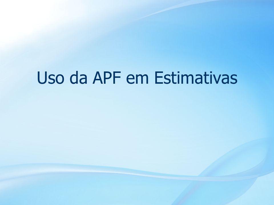 Uso da APF em Estimativas