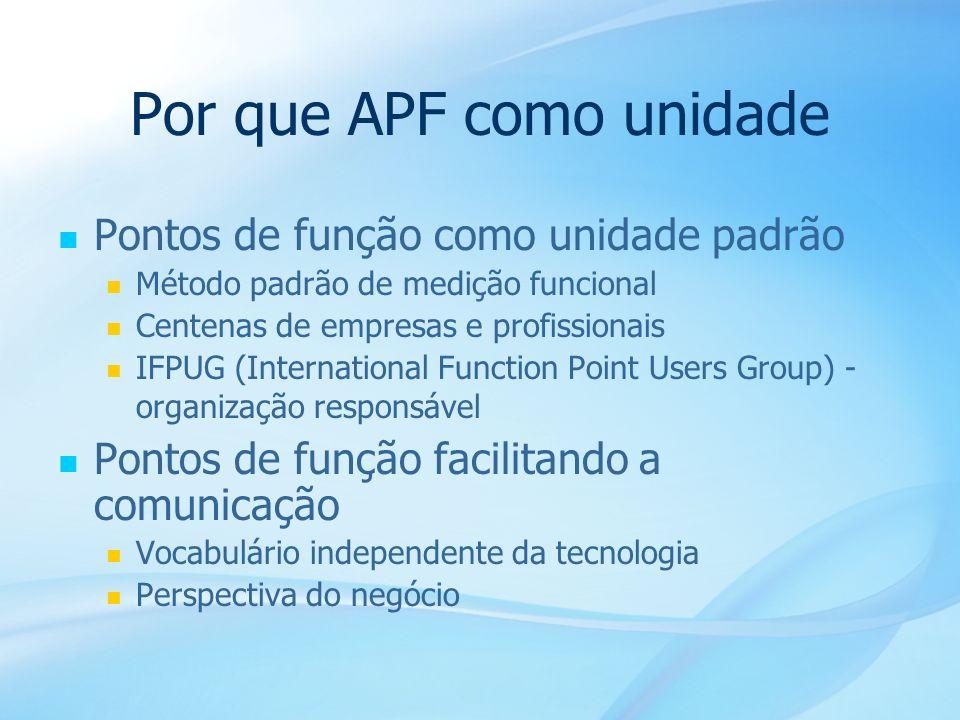 Por que APF como unidade