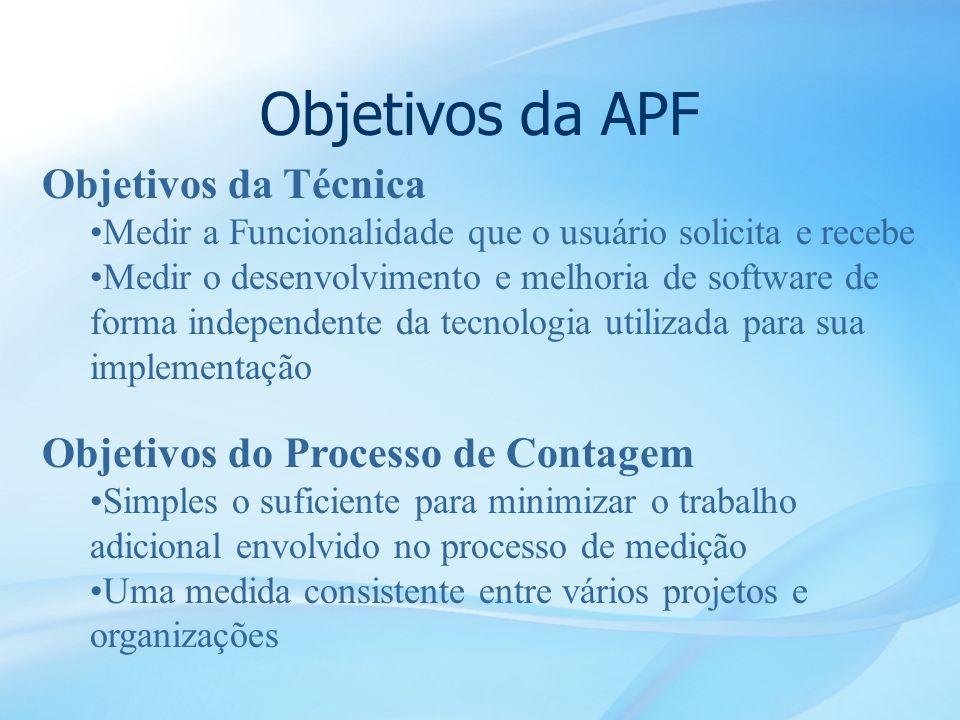 Objetivos da APF Objetivos da Técnica