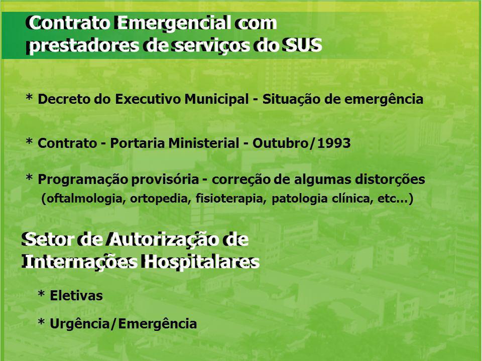 Contrato Emergencial com prestadores de serviços do SUS
