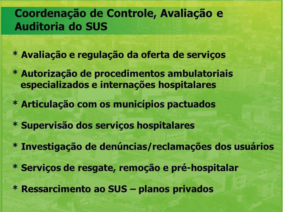 Coordenação de Controle, Avaliação e Auditoria do SUS