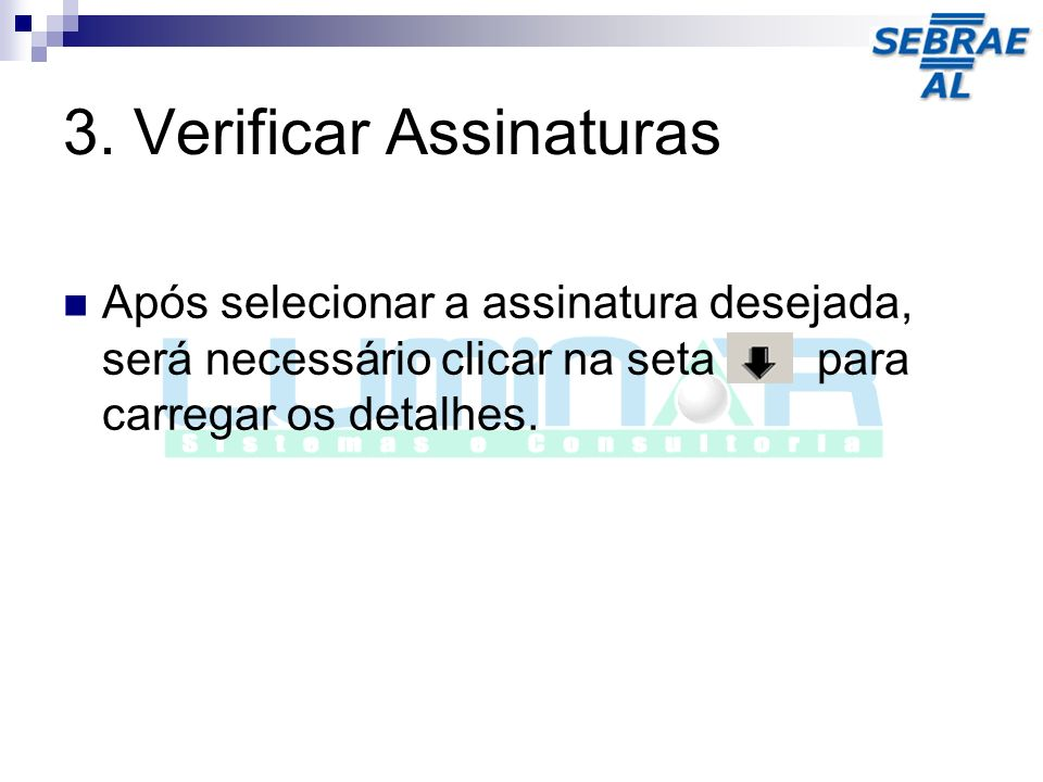3. Verificar Assinaturas