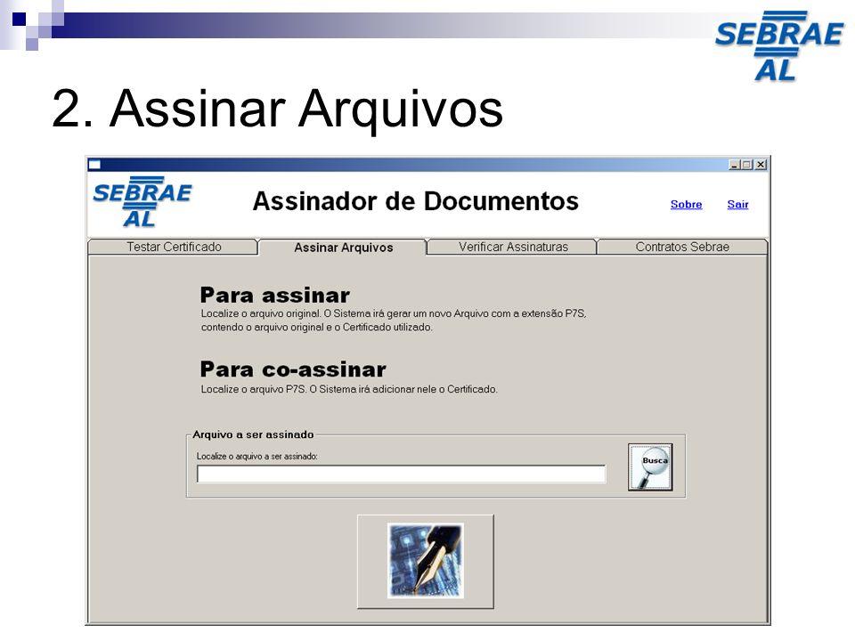 2. Assinar Arquivos