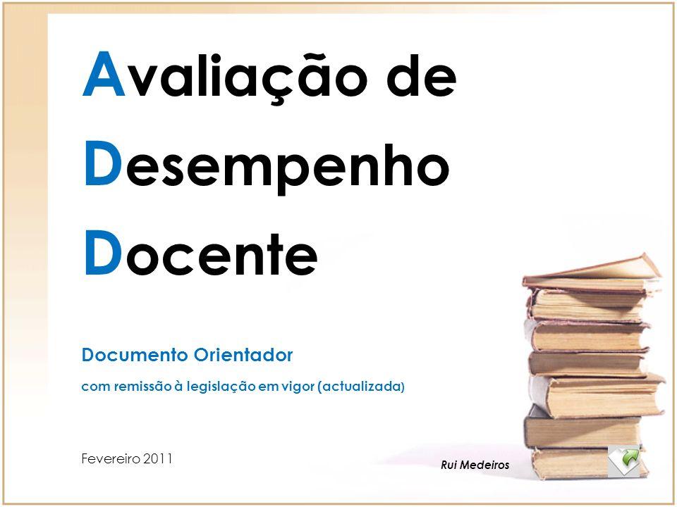 Avaliação de Desempenho Docente Documento Orientador