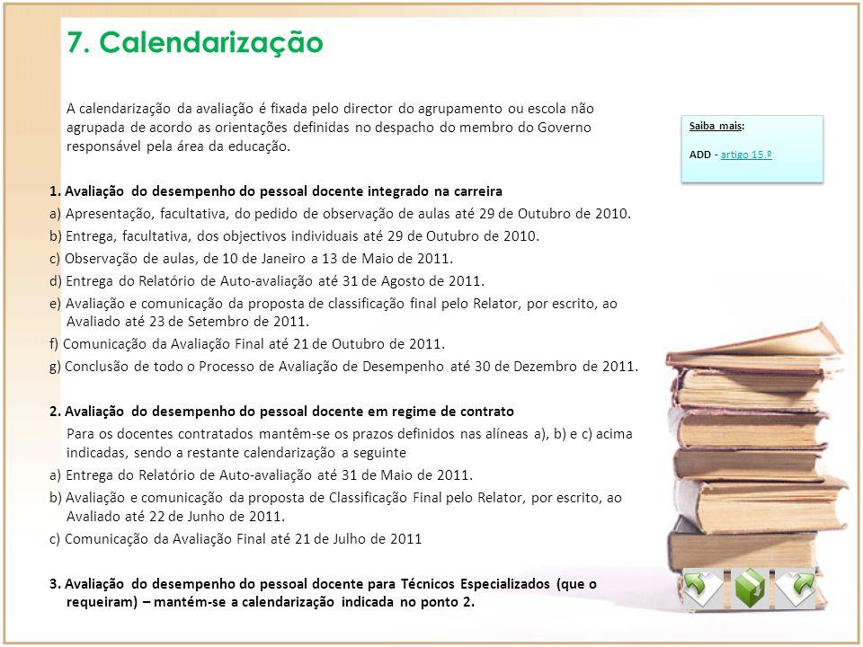 7. Calendarização