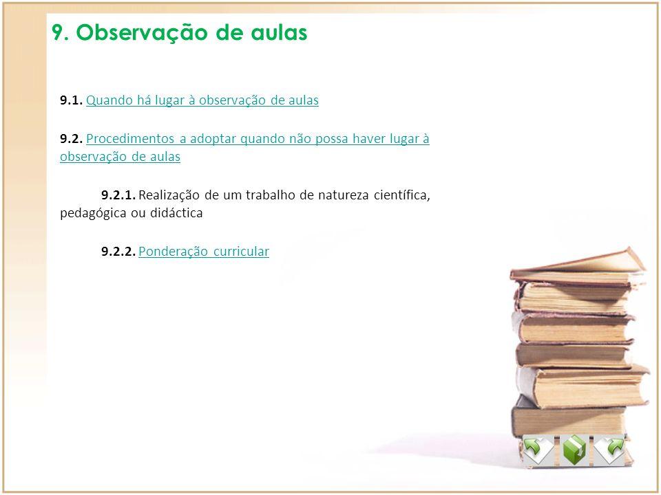 9. Observação de aulas
