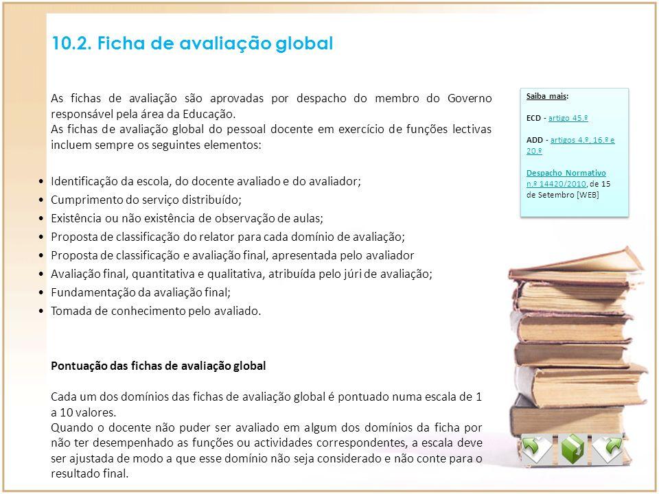 10.2. Ficha de avaliação global
