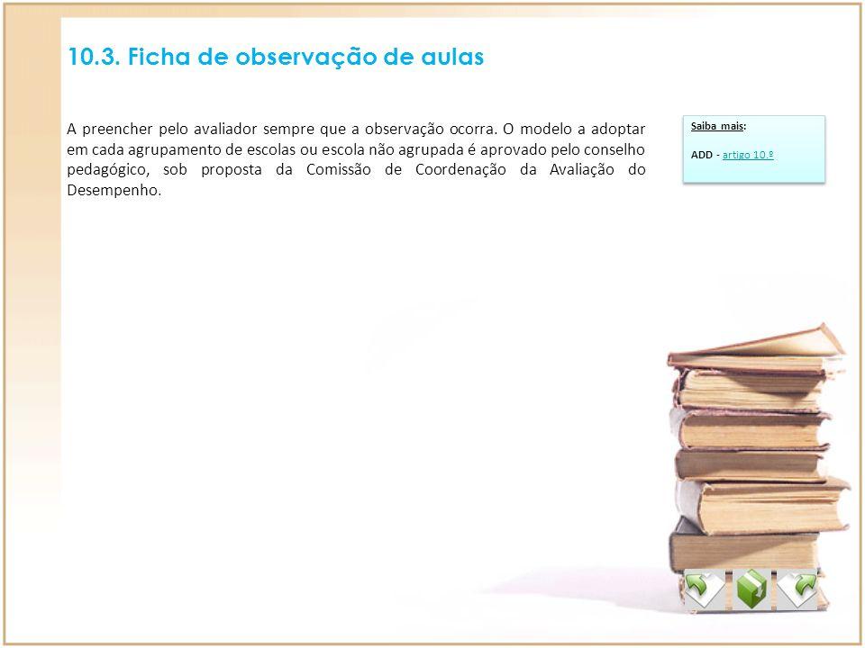 10.3. Ficha de observação de aulas