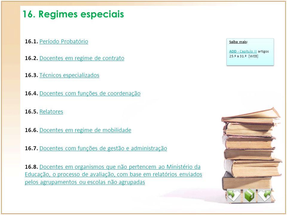 16. Regimes especiais