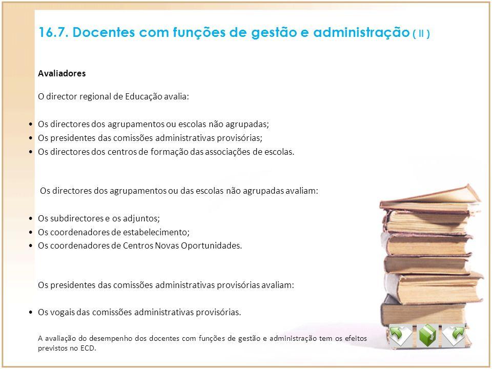 16.7. Docentes com funções de gestão e administração ( II )
