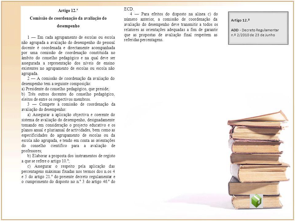 Comissão de coordenação da avaliação do desempenho