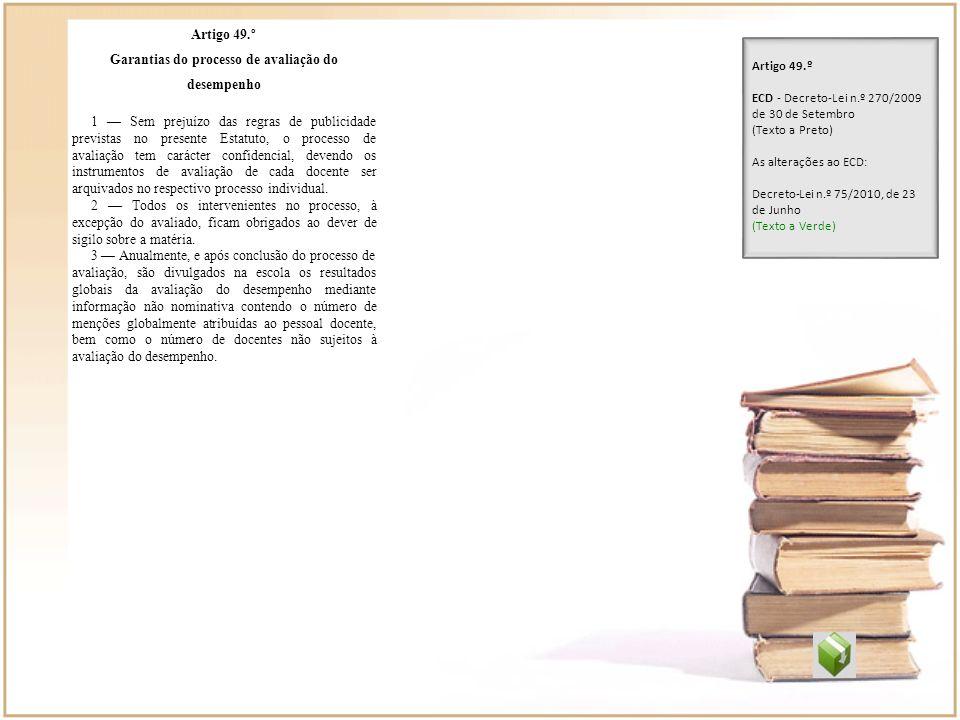 Garantias do processo de avaliação do desempenho