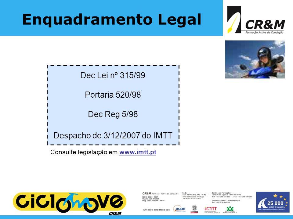 Consulte legislação em www.imtt.pt