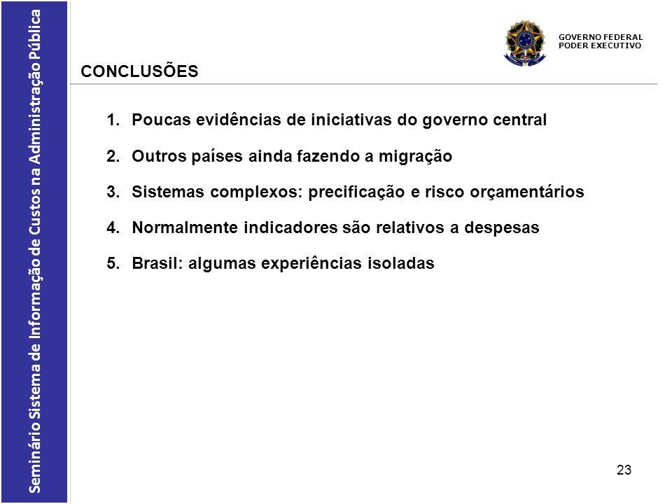 Poucas evidências de iniciativas do governo central