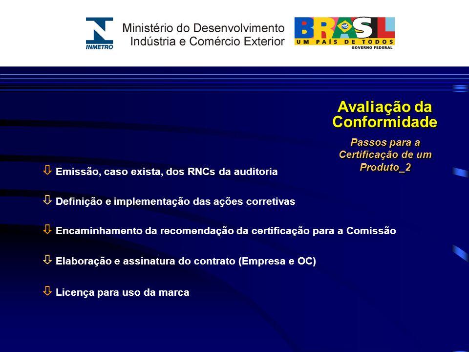 Avaliação da Conformidade Passos para a Certificação de um Produto_2