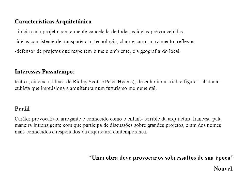 Características Arquitetônica