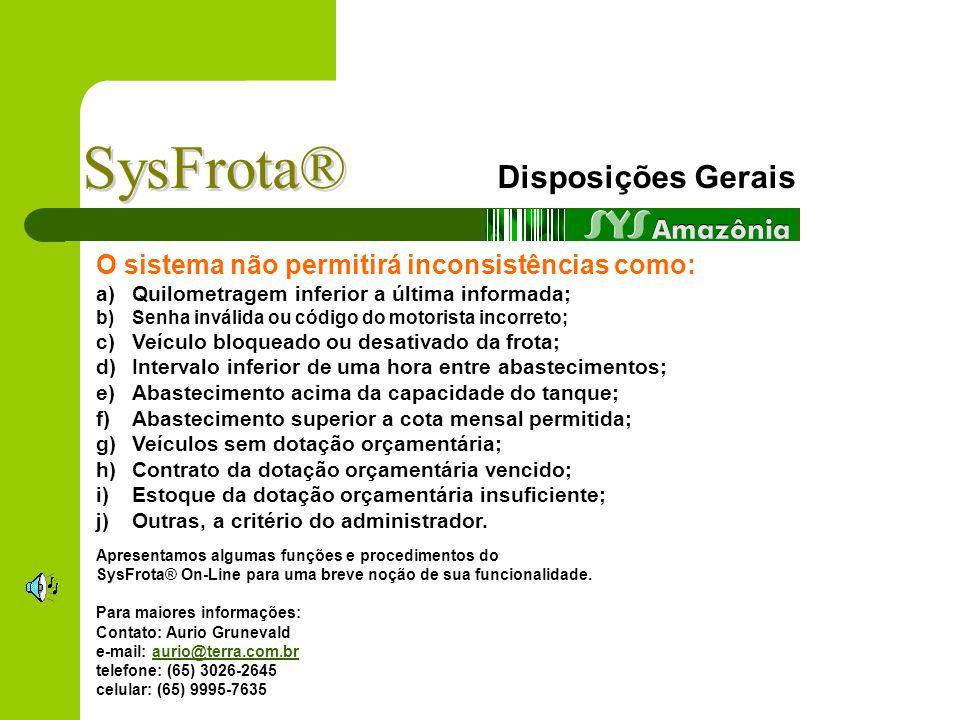 SysFrota® Disposições Gerais
