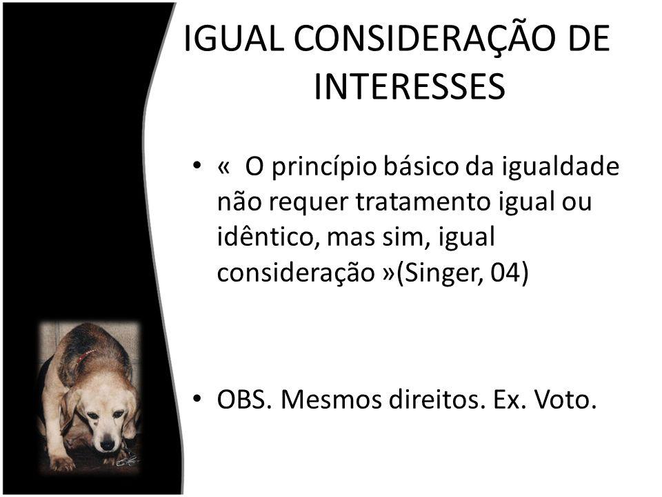 IGUAL CONSIDERAÇÃO DE INTERESSES