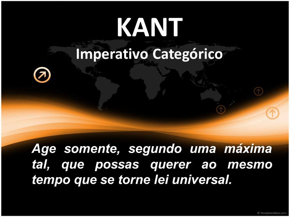 KANT Imperativo Categórico