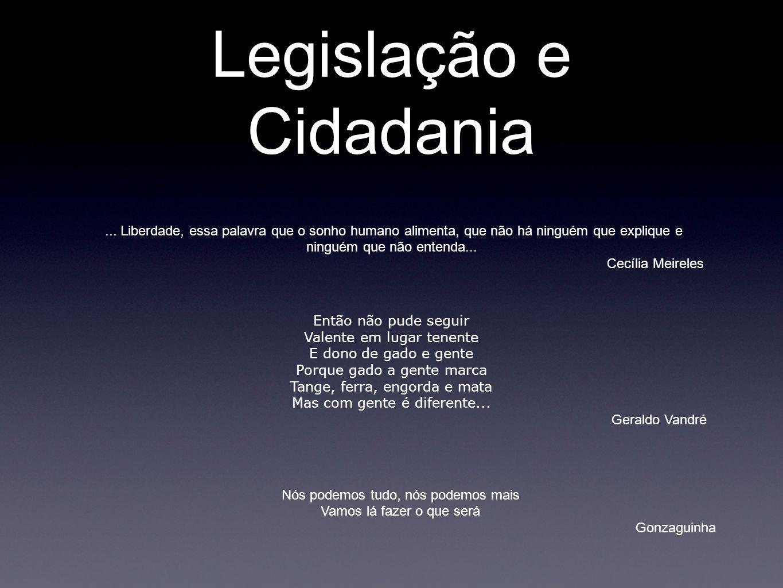 Legislação e Cidadania