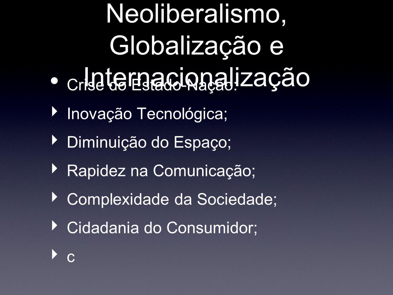 Neoliberalismo, Globalização e Internacionalização