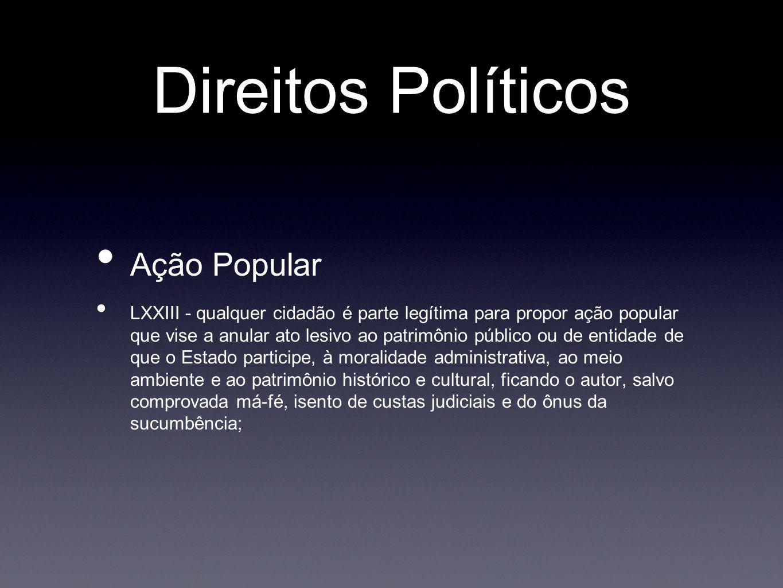 Direitos Políticos Ação Popular