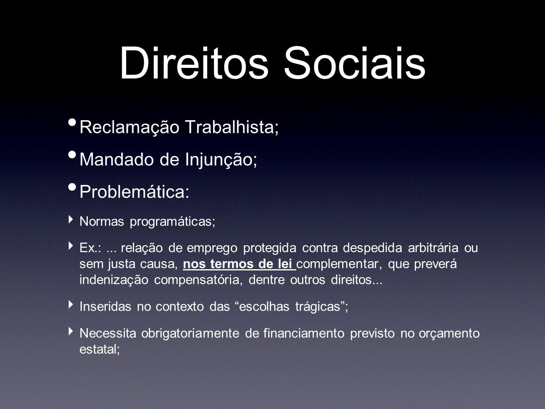 Direitos Sociais Reclamação Trabalhista; Mandado de Injunção;