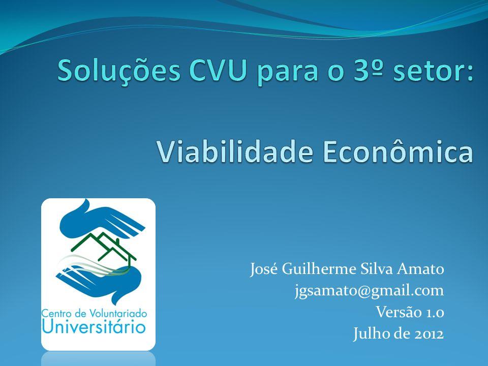 Soluções CVU para o 3º setor: Viabilidade Econômica