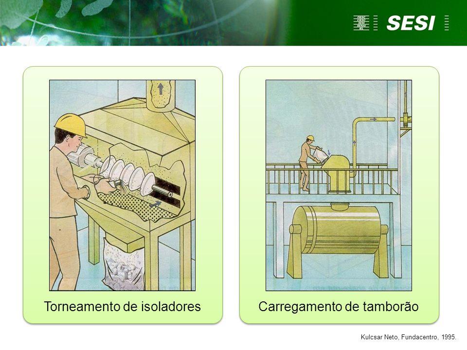 Torneamento de isoladores Carregamento de tamborão