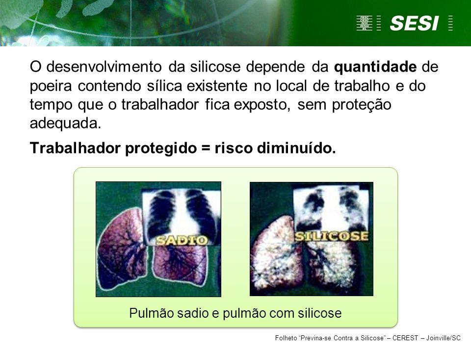 Pulmão sadio e pulmão com silicose