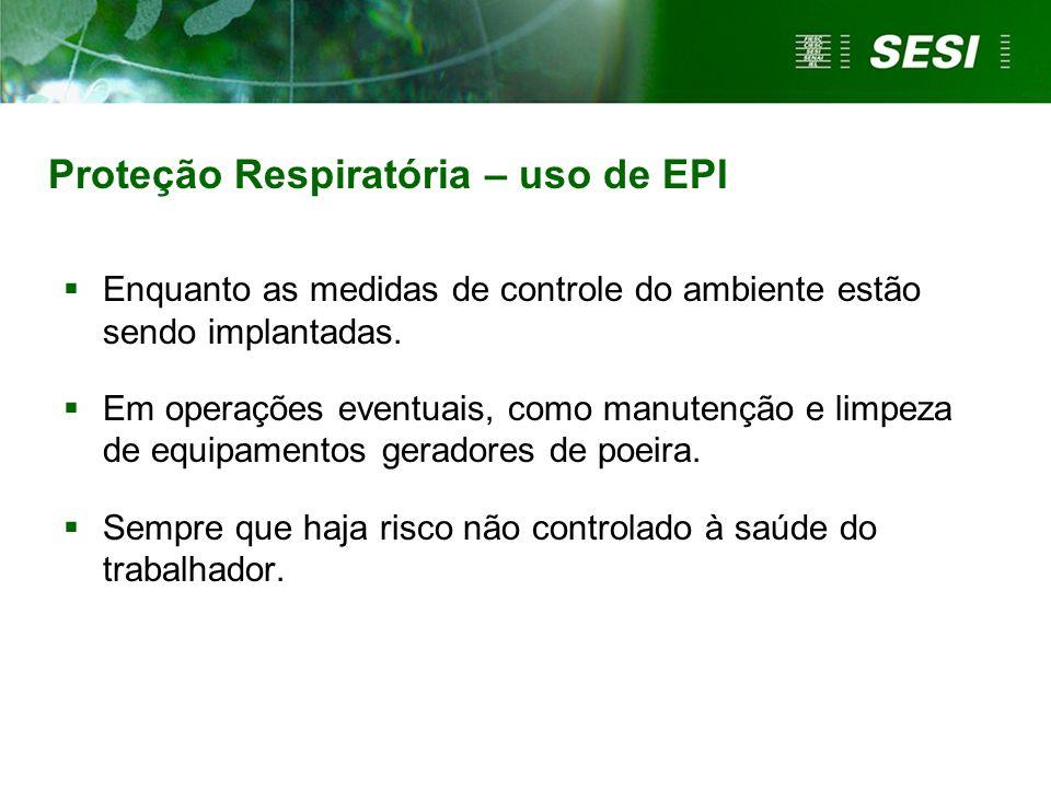 Proteção Respiratória – uso de EPI