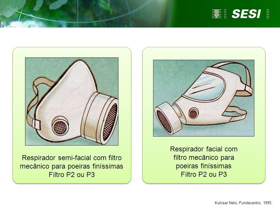 Respirador facial com filtro mecânico para poeiras finíssimas