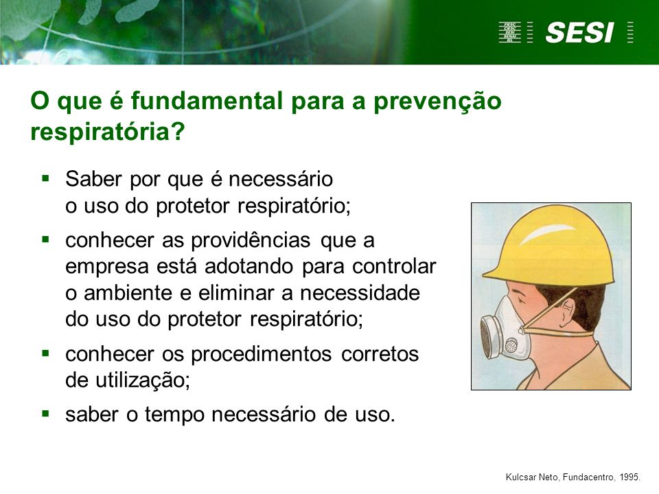 O que é fundamental para a prevenção respiratória