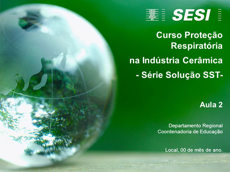 Curso Proteção Respiratória na Indústria Cerâmica - Série Solução SST-