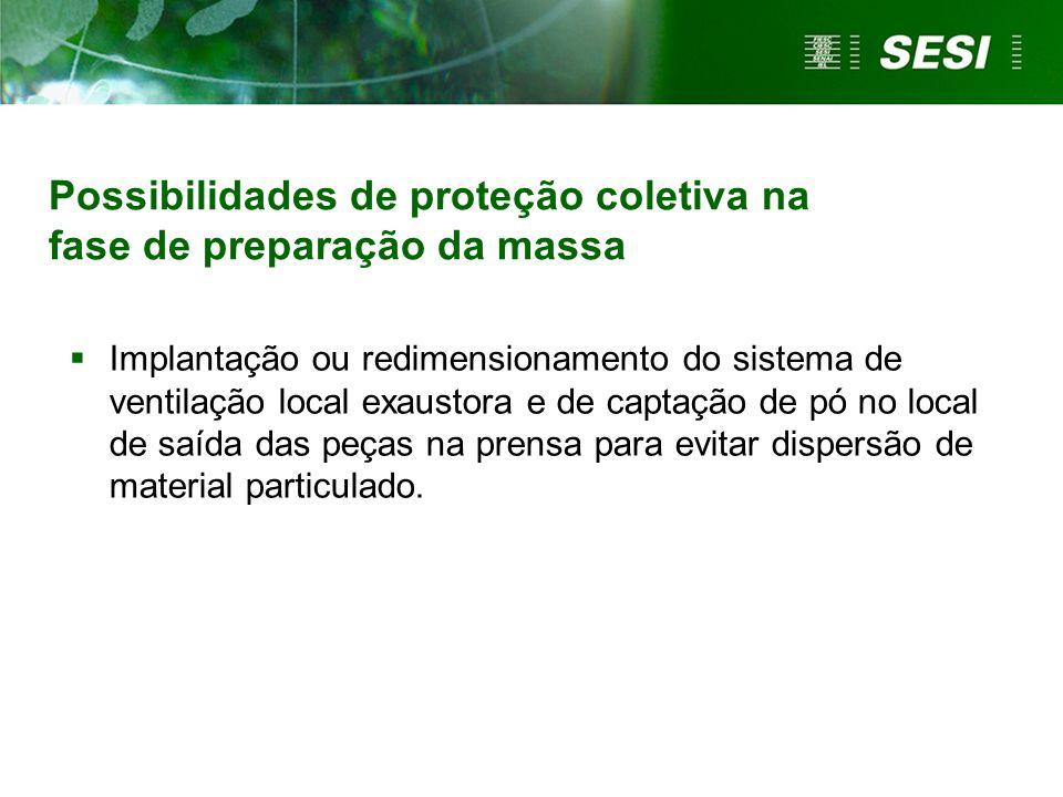 Possibilidades de proteção coletiva na fase de preparação da massa